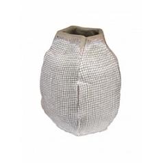 Ваза Nieuwkoop Indoor pottery pot jolanda white, белого цвета