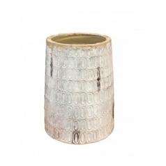 Ваза Nieuwkoop Indoor pottery pot textured -no rim distress white, белого цвета