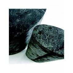 Пьедестал Nieuwkoop Indoor pottery column slate oval silvershine black, чёрного цвета