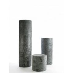 Пьедестал Nieuwkoop Indoor pottery column slate silvershine black, чёрного цвета