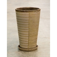 Цветочный Горшок Nieuwkoop Indoor pottery planter dacari cool grey, серого цвета 2 (with saucer)