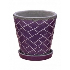 Цветочный Горшок Nieuwkoop Indoor pottery planter lattice dusky orchid (with saucer)