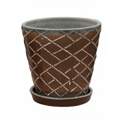 Цветочный Горшок Nieuwkoop Indoor pottery planter lattice monks robe (with saucer)