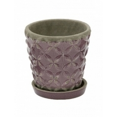 Цветочный Горшок Nieuwkoop Indoor pottery planter macassar dusky orchid (with saucer)