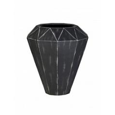 Кашпо Nieuwkoop Alegria diamond big M размер sanded grey, серого цвета