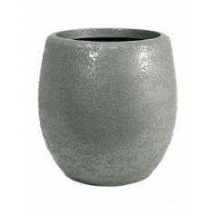 Кашпо Nieuwkoop Callisto structure round под цвет серебра