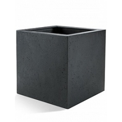 Кашпо Nieuwkoop D-lite cube XL размер anthracite, цвет антрацит-фактура под бетон