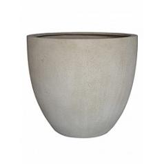 Кашпо Nieuwkoop D-lite egg pot S размер antique white, белого цвета-фактура бетон