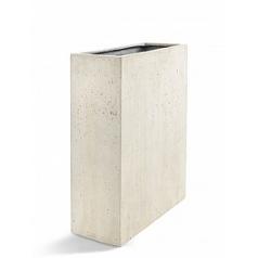 Кашпо Nieuwkoop D-lite high box L размер antique white, белого цвета-фактура бетон