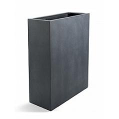 Кашпо Nieuwkoop D-lite high box L размер lead-фактура бетон