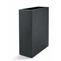 Кашпо Nieuwkoop D-lite high box low anthracite, цвет антрацит-фактура бетон