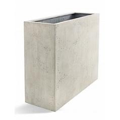 Кашпо Nieuwkoop D-lite high box low antique white, белого цвета-фактура бетон