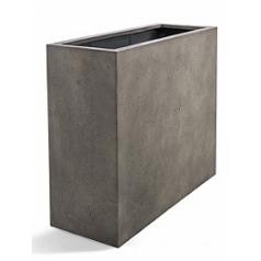 Кашпо Nieuwkoop D-lite high box low natural-фактура бетон