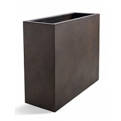 Кашпо Nieuwkoop D-lite high box low rusty iron-фактура бетон