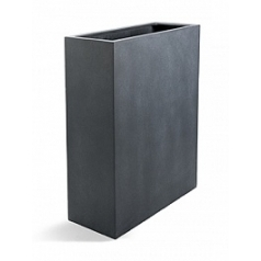 Кашпо Nieuwkoop D-lite high box M размер lead-фактура бетон