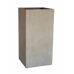 Кашпо Nieuwkoop D-lite high cube L размер antique white, белого цвета-фактура бетон