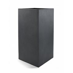 Кашпо Nieuwkoop D-lite high cube L размер lead-фактура бетон