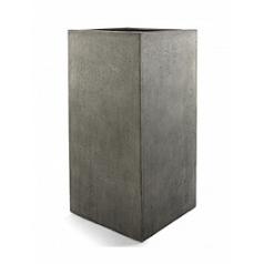 Кашпо Nieuwkoop D-lite high cube L размер natural-фактура бетон
