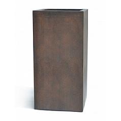Кашпо Nieuwkoop D-lite high cube L размер rusty iron-фактура бетон