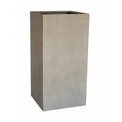 Кашпо Nieuwkoop D-lite high cube M размер antique white, белого цвета-фактура бетон