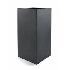 Кашпо Nieuwkoop D-lite high cube M размер lead-фактура бетон