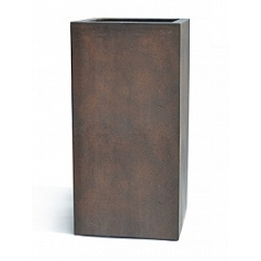 Кашпо Nieuwkoop D-lite high cube M размер rusty iron-фактура бетон