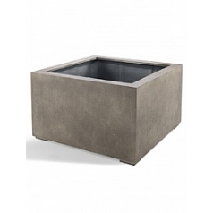 Кашпо Nieuwkoop D-lite low cube M размер natural-фактура бетон