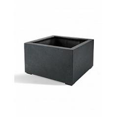 Кашпо Nieuwkoop D-lite low cube S размер anthracite, цвет антрацит-фактура бетон