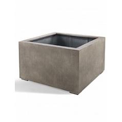Кашпо Nieuwkoop D-lite low cube S размер natural-фактура бетон