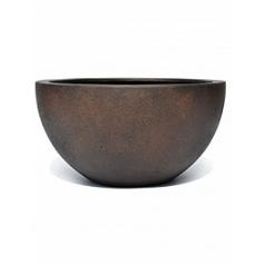 Кашпо Nieuwkoop D-lite low egg pot M размер rusty iron-фактура бетон