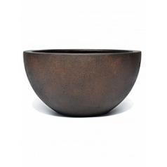 Кашпо Nieuwkoop D-lite low egg pot S размер rusty iron-фактура бетон