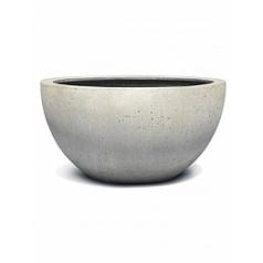 Кашпо Nieuwkoop D-lite low egg pot s/2 antique white, белого цвета-фактура бетон