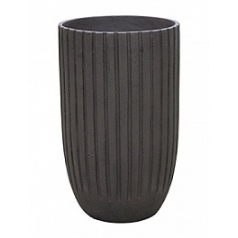 Кашпо Nieuwkoop Polystone lourdee cylinder brown, коричнево-бурого цвета