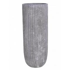 Кашпо Nieuwkoop Polystone lourdee cylinder lava raw grey, серого цвета