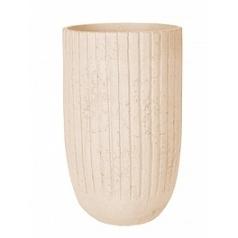 Кашпо Nieuwkoop Polystone lourdee cylinder natural white, белого цвета