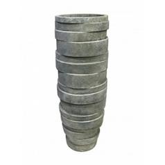 Кашпо Nieuwkoop Luxe lite stone varuna grey, серого цвета