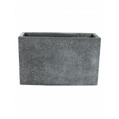 Кашпо Nieuwkoop Marc (фактура бетон) rectangle grey, серого цвета