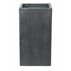 Кашпо Nieuwkoop Marc (фактура бетон) square high grey, серого цвета