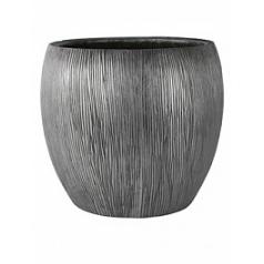 Кашпо Nieuwkoop Twist pot под цвет серебра