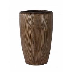Кашпо Nieuwkoop Twist vase bronze, бронзового цвета