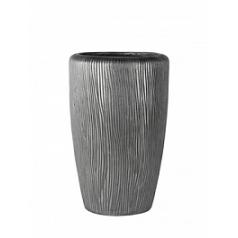 Кашпо Nieuwkoop Twist vase под цвет серебра