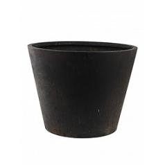 Кашпо Nieuwkoop Unique (grc) conic black, чёрного цвета