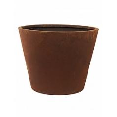 Кашпо Nieuwkoop Unique (grc) conic rusty, ржавая фактура