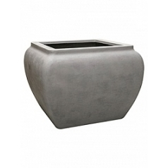Кашпо Nieuwkoop Waterjar square grey, серого цвета