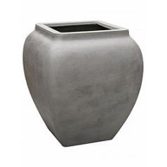 Кашпо Nieuwkoop Waterjar square high grey, серого цвета