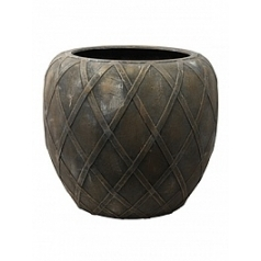 Кашпо Nieuwkoop Wire (grc) coppa copper grey, серого цвета