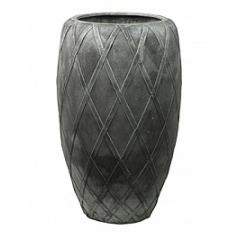 Кашпо Nieuwkoop Wire (grc) coppa цвета серого серебра