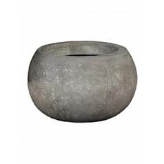 Кашпо Nieuwkoop Polystone vanessa bowl grey, серого цвета