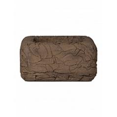 Кашпо Nieuwkoop Polystone wadi planter brown, коричнево-бурого цвета