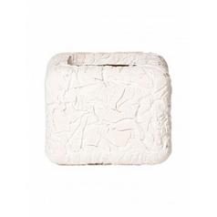 Кашпо Nieuwkoop Polystone wadi planter white, белого цвета wash